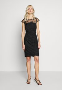 Esprit Collection - DEGRADÉ FLORAL - Sukienka koktajlowa - black - 1