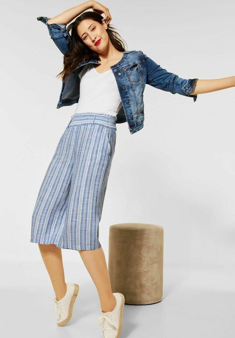 Street One - MIT WIDE LEGS - Trousers - blau