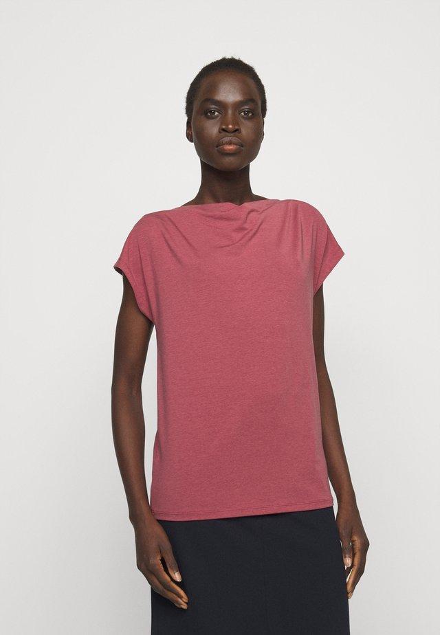 MULTID - T-shirts basic - dunkelmauve