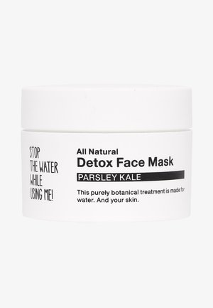ALL NATURAL PARSLEY KALE DETOX FACE MASK - Face mask - black/white