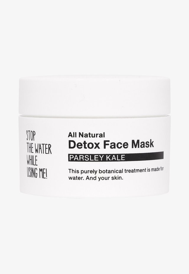 ALL NATURAL PARSLEY KALE DETOX FACE MASK - Masque visage - black/white
