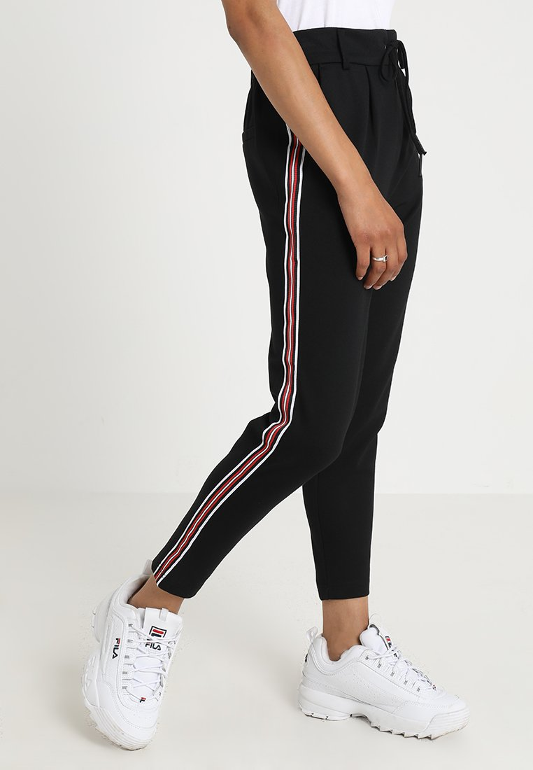 ONLY - ONLPOPTRASH EASY SPORT PANT - Trainingsbroek - black/red/white