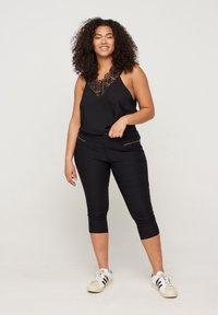 Zizzi - SLIM FIT - Trousers - black - 0