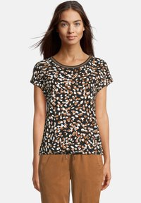 Betty & Co - Print T-shirt - schwarz/braun - 0
