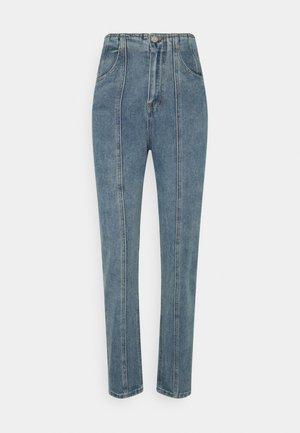 SEAM PANEL DETAIL MOM - Straight leg jeans - blue