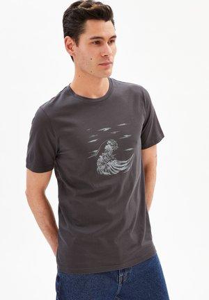 T-shirt imprimé - acid black