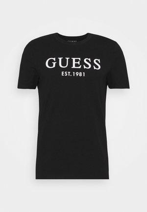 Print T-shirt - jet black