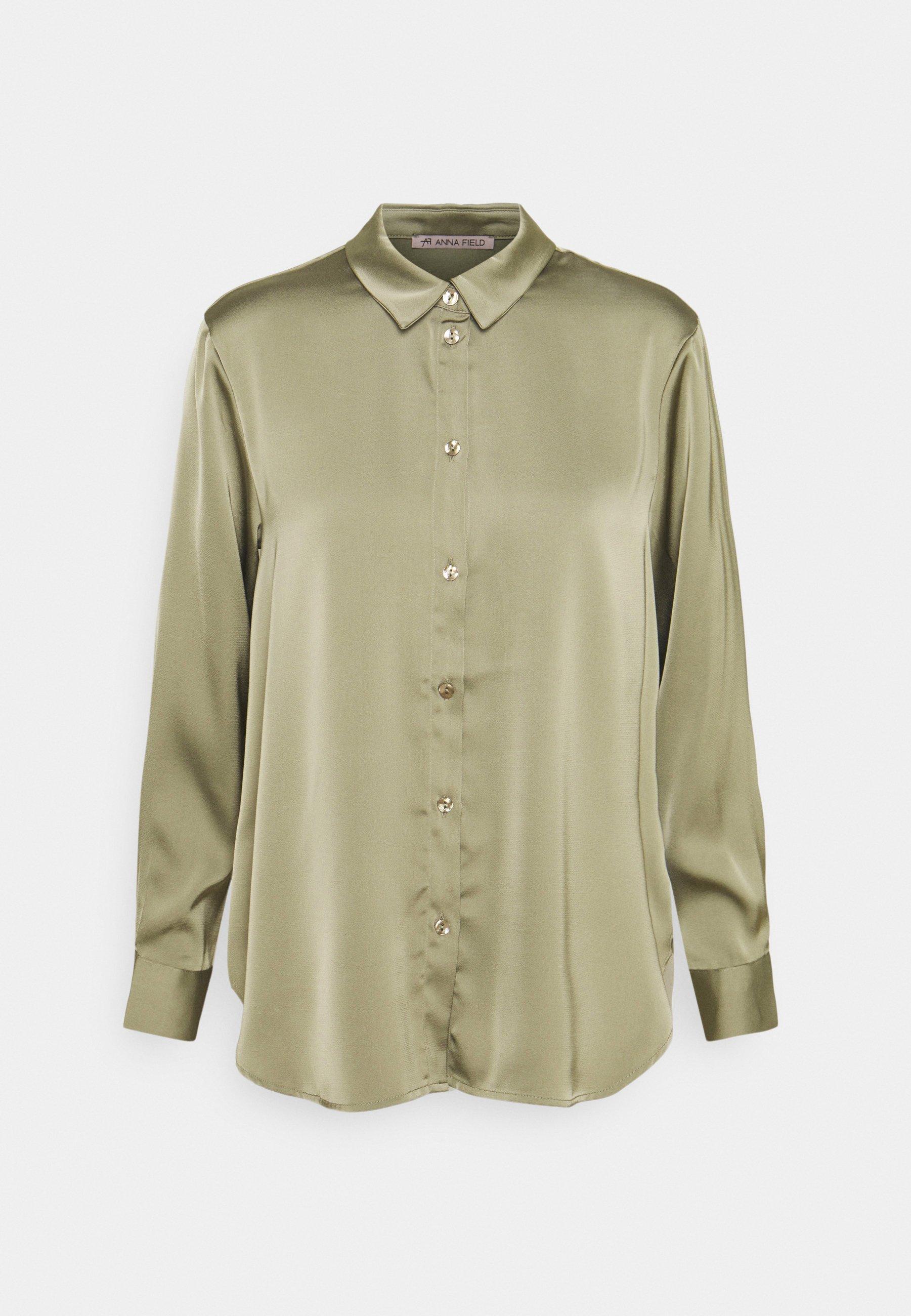 Women Satin Blouse - Button-down blouse