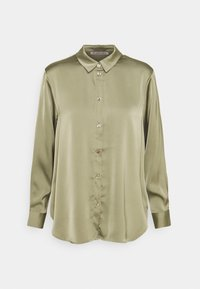 Satin Blouse - Button-down blouse - green
