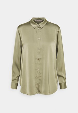 Satin Blouse - Button-down blouse - green