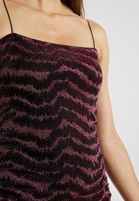 Topshop - GLITTER LUREX DRESS - Cocktail dress / Party dress - pink - 4