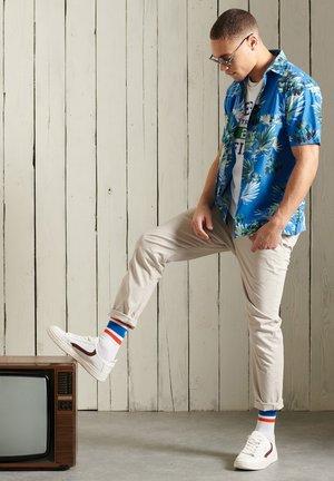 HAWAIIAN  - Shirt - brush palm blue