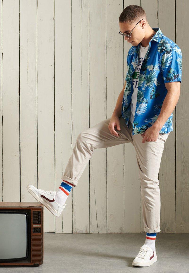 Superdry - HAWAIIAN  - Skjorta - brush palm blue