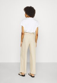 GAP - WIDE LEG SOLID - Trousers - wicker - 2