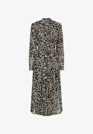 Day dress - white black leopard  print