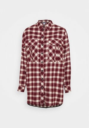 CAUSAL OVERSIZE CHECK - Chemisier - red