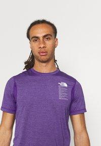The North Face - GLACIER TEE - Triko spotiskem - mottled purple - 3