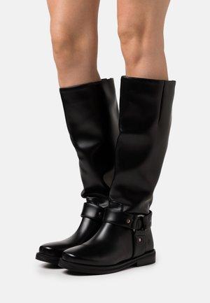 VEGAN PARALLAX - Vysoká obuv - black