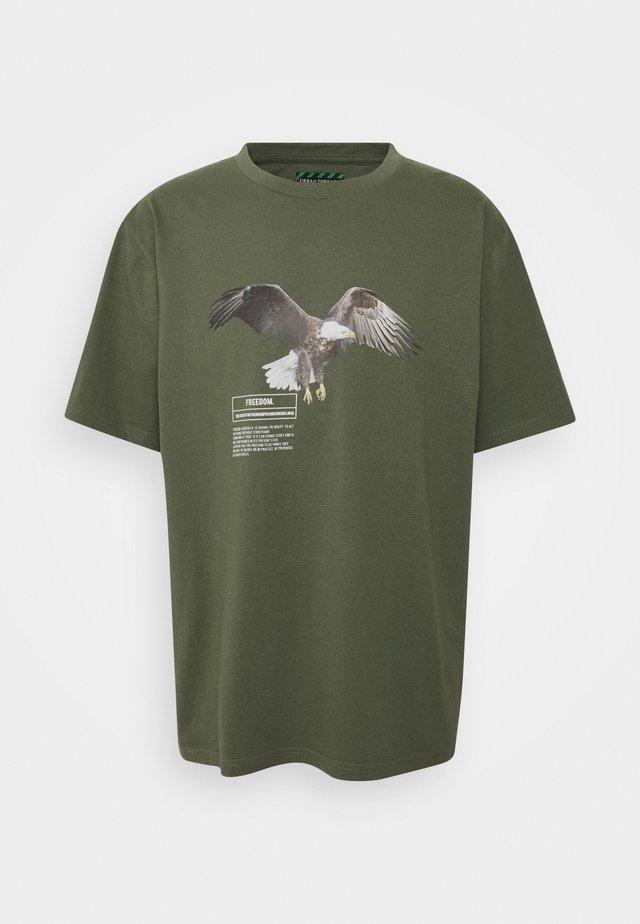 EAGLE GRAPHIC UNISEX - Print T-shirt - brown