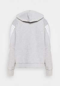 adidas Performance - LINEAR FULL ZIP ESSENTIALS SPORTS HOODIE - Sweatjakke /Træningstrøjer - mgreyh/white - 1