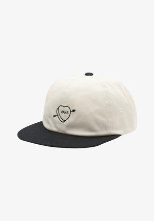 Cap - seed pearl/black