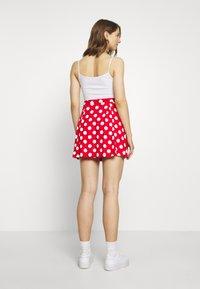 Even&Odd - A-snit nederdel/ A-formede nederdele - goji berry/white - 2