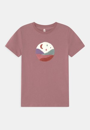 STEVIE EMBELLISHED  - T-shirt print - dusty berry