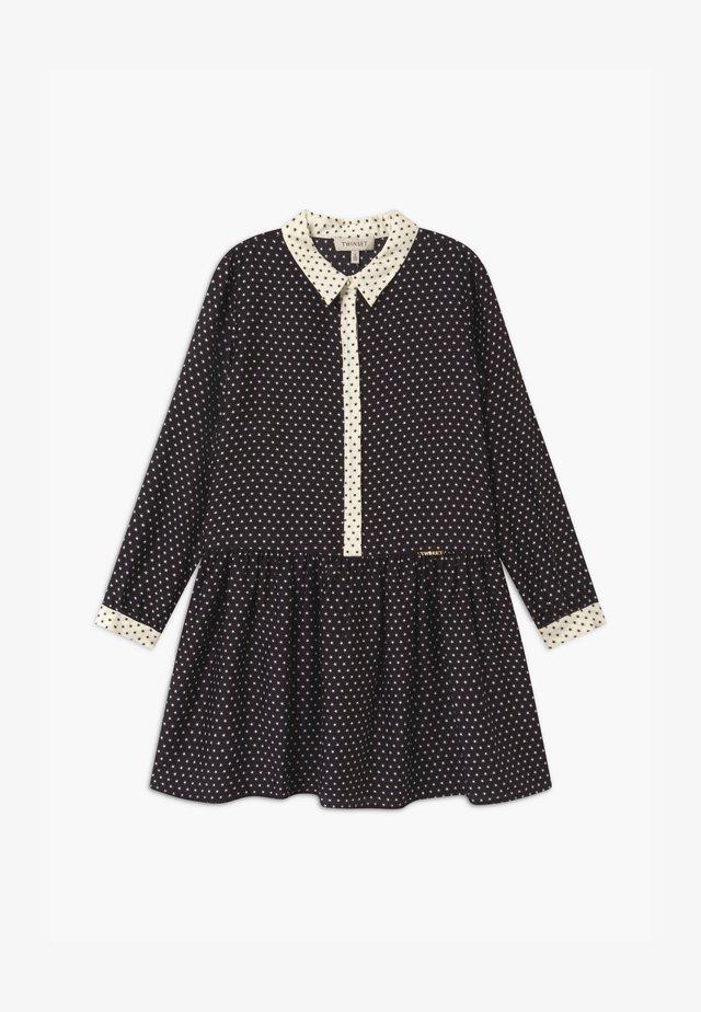 STAMPA STELLE - Robe chemise - nero/neve