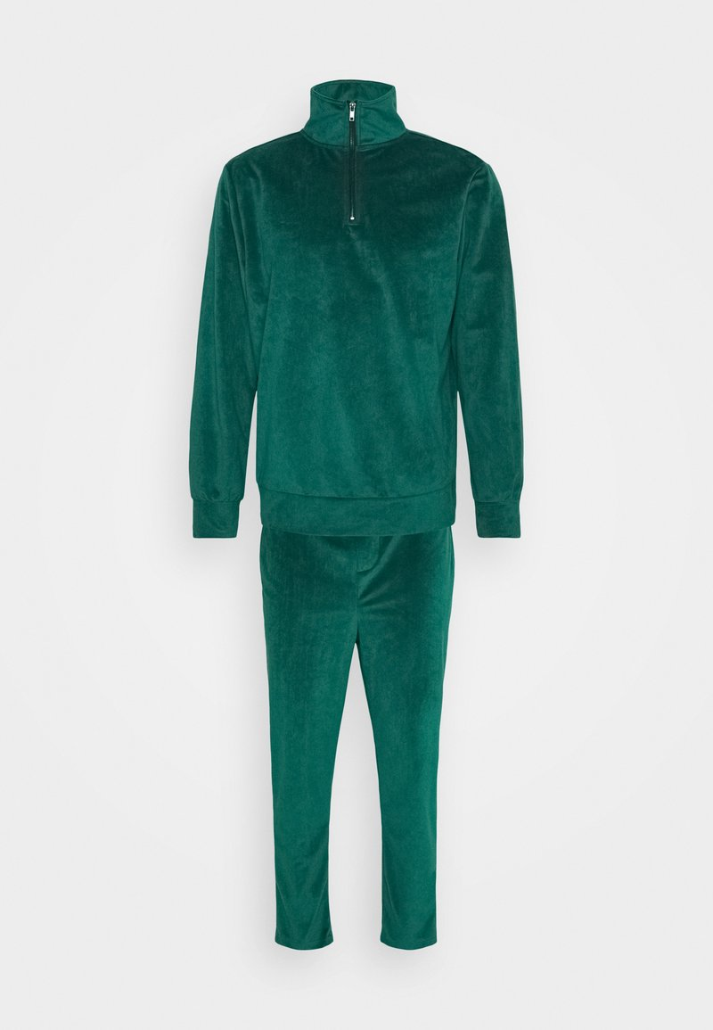 Another Influence - TOMAS ZIP THROUGH TRACKSUIT - Tracksuit - green