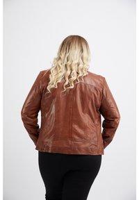 No.1 by Ox - Leather jacket - dark cognac - 1