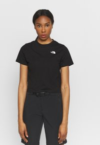 The North Face - FOUNDATION CROP TEE - T-shirts - black - 0