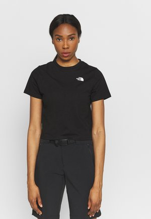 FOUNDATION CROP TEE - T-shirts - black