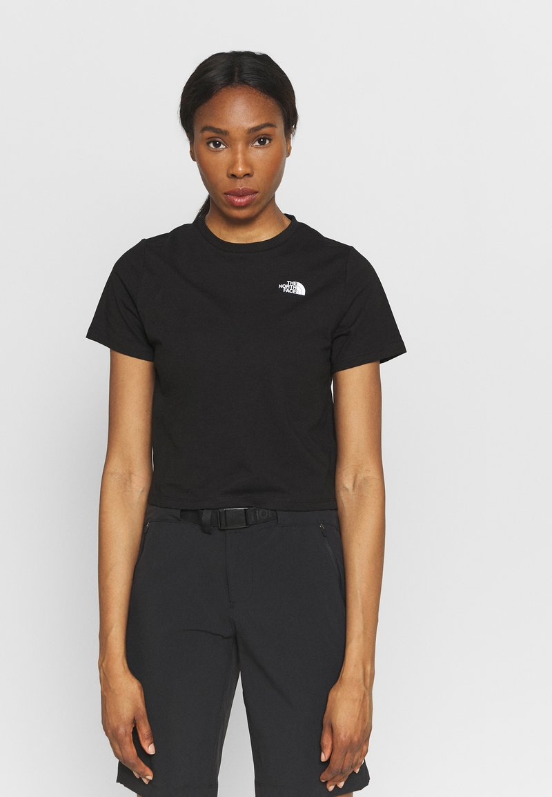 The North Face - FOUNDATION CROP TEE - T-shirts - black