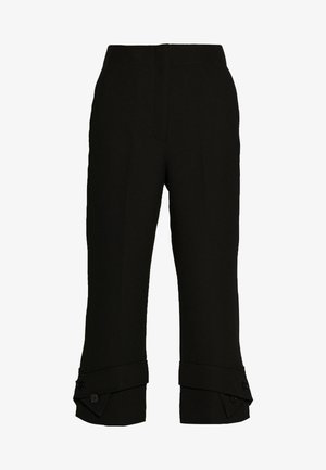 TROUSERS BELTED CUFF - Trousers - black