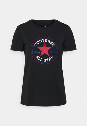 CHUCK TAYLOR PATCH TEE - Print T-shirt - black multi
