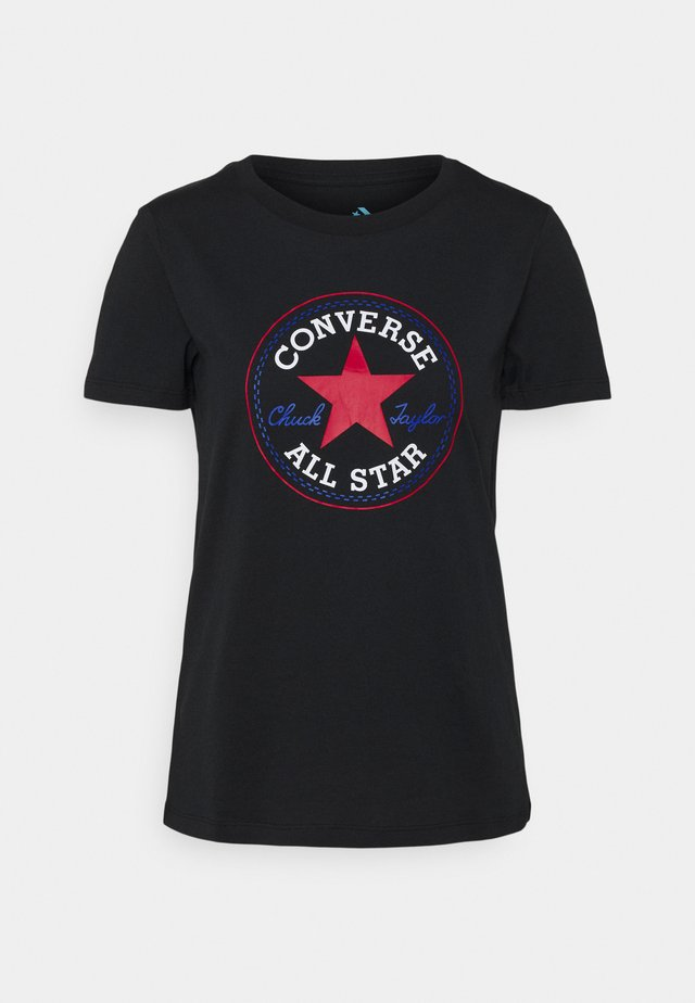 CHUCK TAYLOR PATCH TEE - T-shirt imprimé - black multi