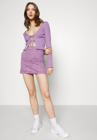 BDG Urban Outfitters - NOORI TIE FRONT - Cardigan - lilac - 3