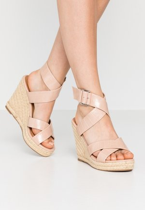 ONLAMELIA WRAP  - High heeled sandals - nude