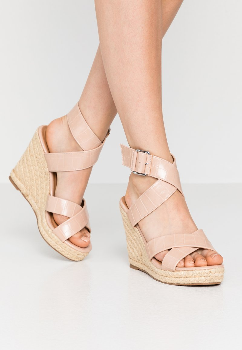ONLY SHOES - ONLAMELIA WRAP  - High heeled sandals - nude