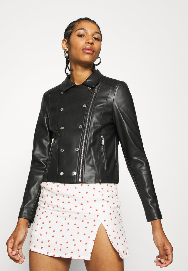 LOW - Chaqueta de cuero - black