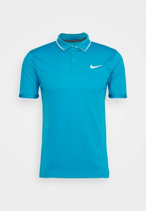 DRY TEAM - Sportshirt - neo turquoise/white
