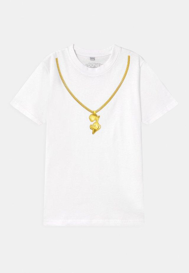 ROADRUNNER CHAIN TEE UNISEX - Print T-shirt - white