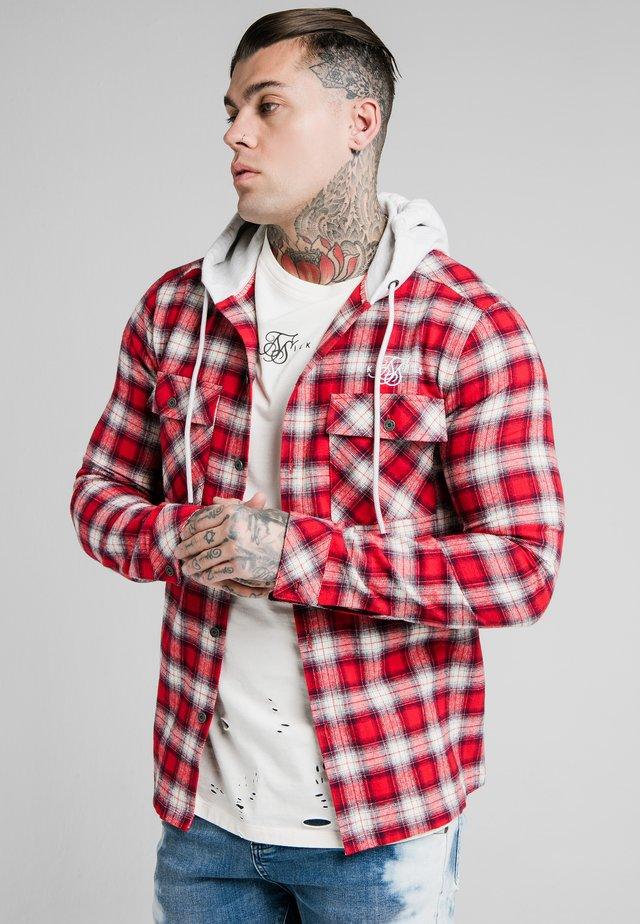 HOODED JACKET - Lett jakke - red/off white
