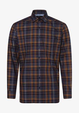 Shirt - cognac blau