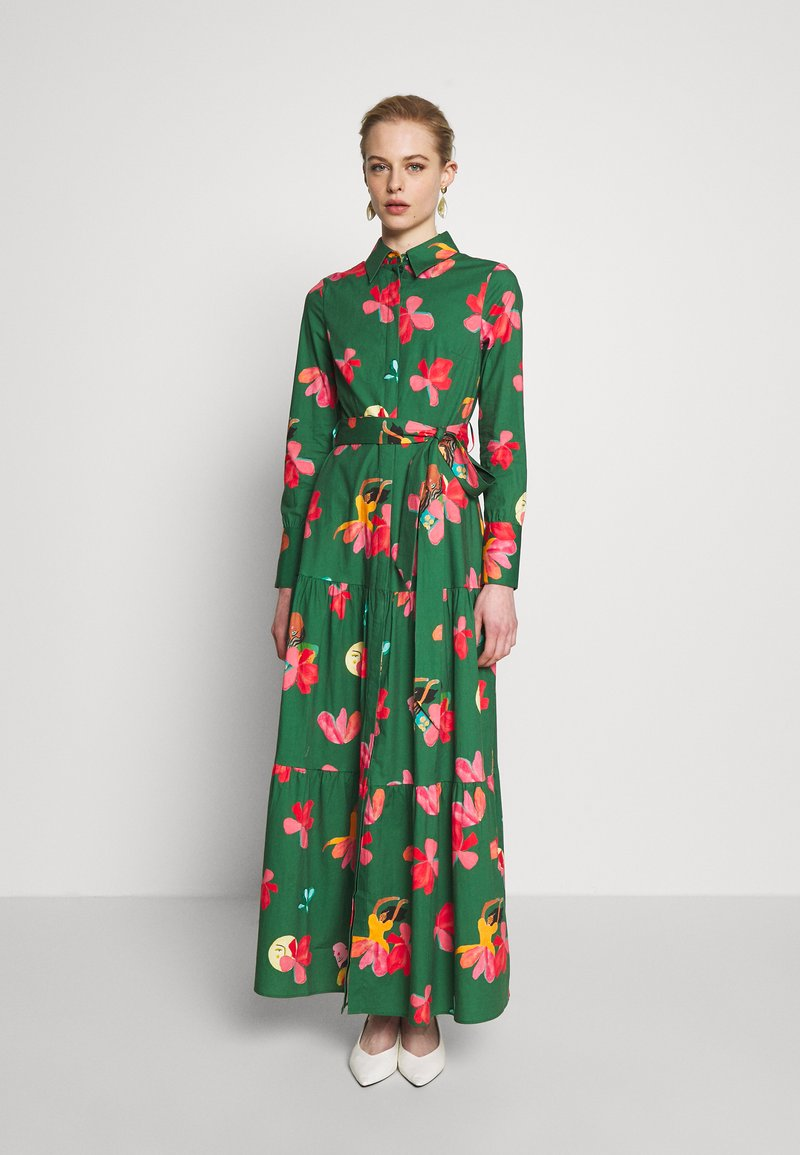 IVY & OAK - VALANCE DRESS MIDI - Korte jurk -  secret garden green