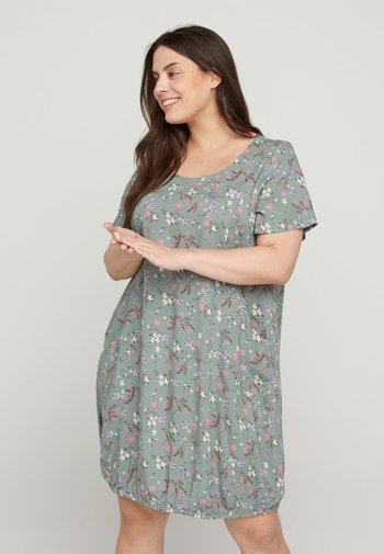 Day dress - chinois green flower