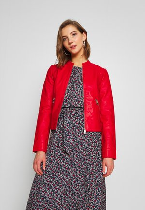 VMRIAMARTA  - Faux leather jacket - goji berry