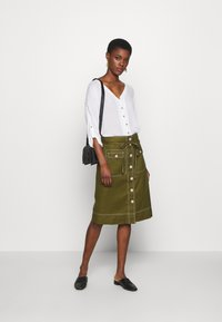 J.CREW TALL - NEW AVERY SKIRT - A-Linien-Rock - olive - 1