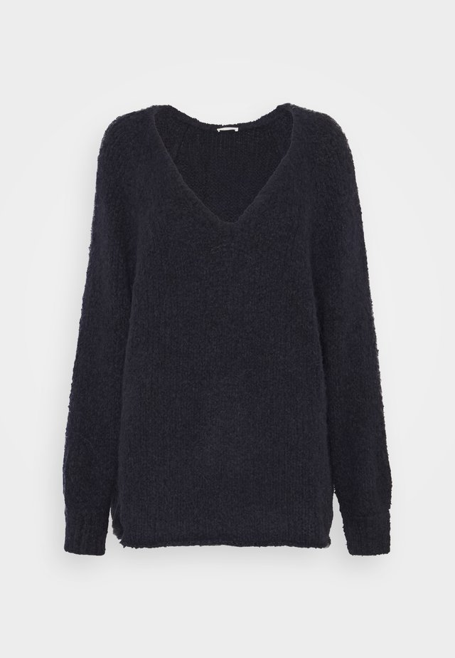 TUDBURY - Jumper - navy chine