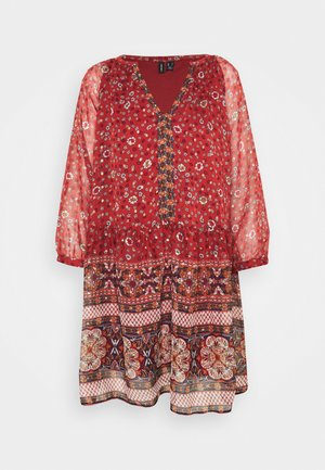 VMBOHEMEA SHORT DRESS - Vestido informal - chili oil/bohemea